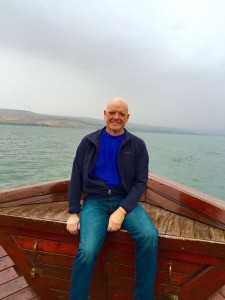 Randy White, on the Sea of Galilee.